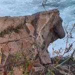 La figura del toro de pedra de Palamós